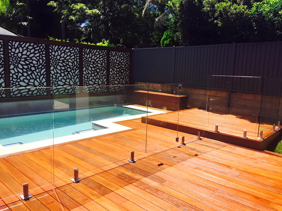 Frameless Glass Pool Fence Deck Mounted With Spigots Pfi Glass