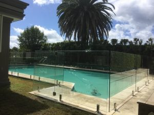 Glass-pool-fence-core-drilled-to-tiles-Pro-fit-Installations-300x225